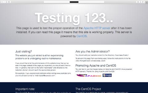 Apacheのテストページ