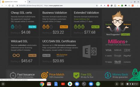 格安SSL購入画面
