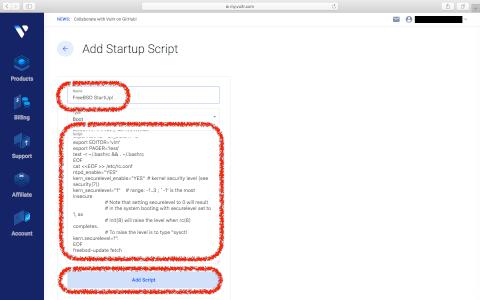 Startup Scriptの登録